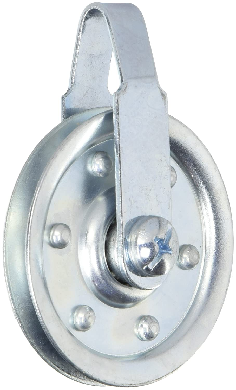 National Hardware V7633 3 Pulleys w/Fork Axle Bolt and Nut in Galvanized National Hardware V7633 3 Pulleys w/Fork N280-552 Material Handling Lever Hoists