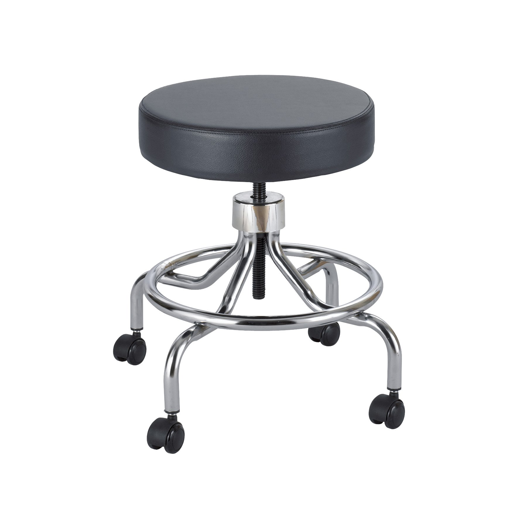 Safco Products 3432BL Lab Stool, Low Base with Screw Lift, Black
