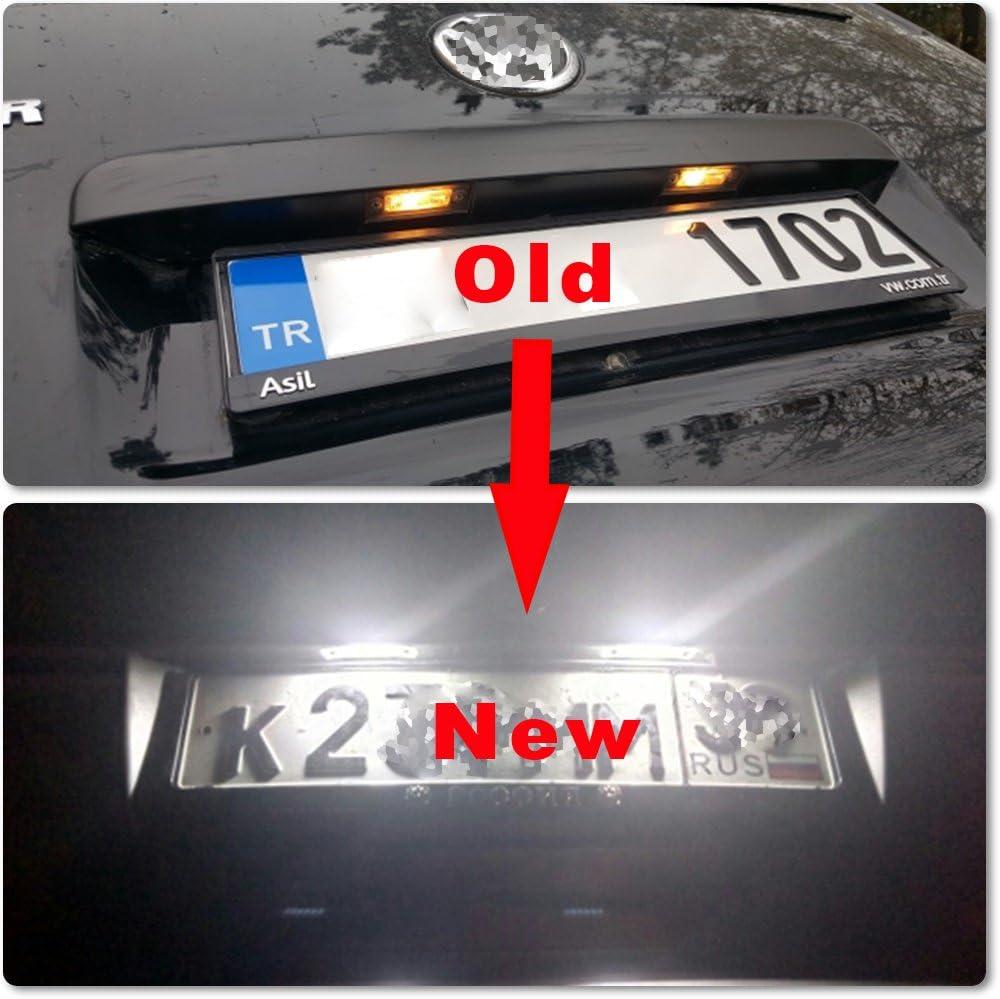 luce bianca super luminosa a LED serie V-W Luce per targa auto posteriore o vano portabagagli Nslumo