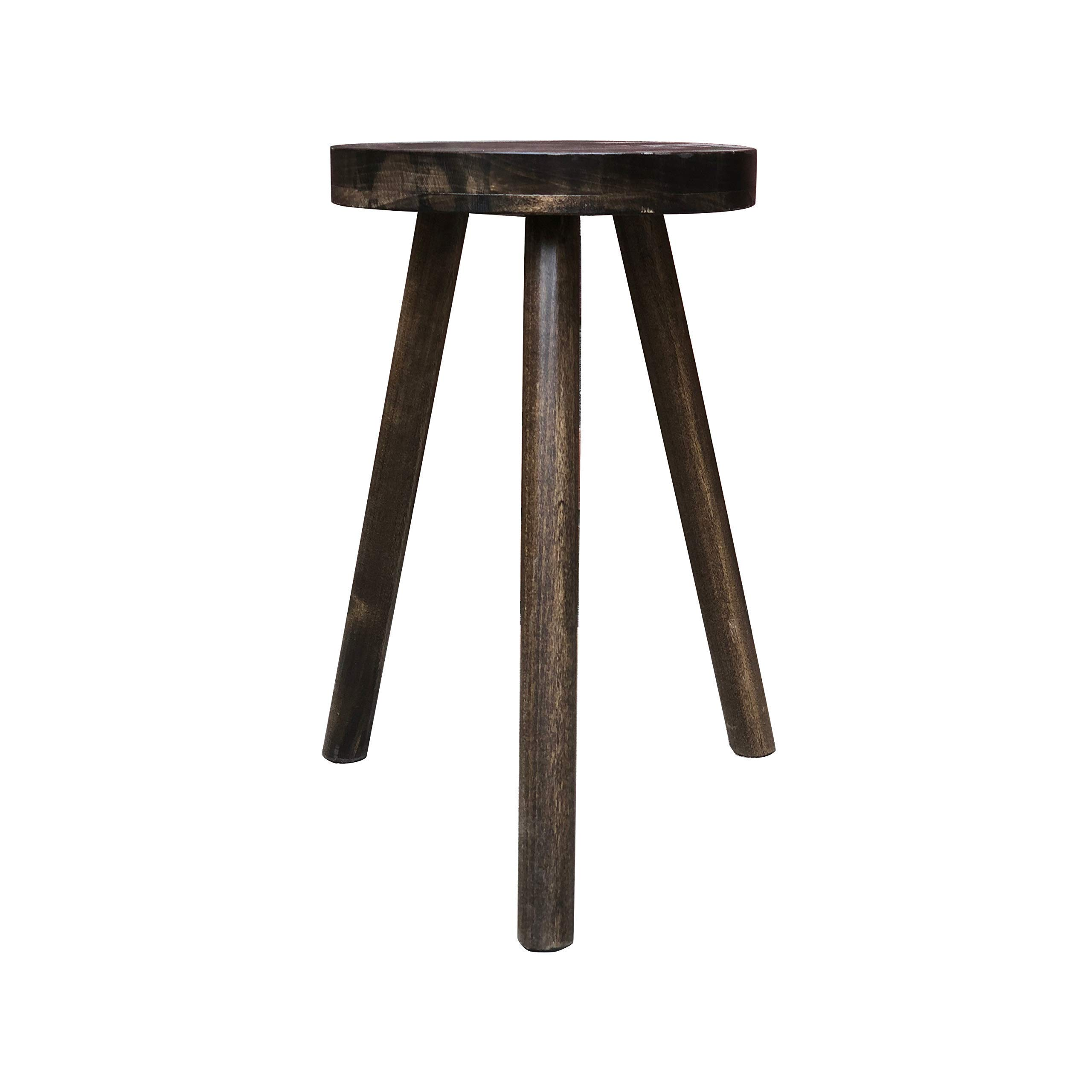Modern Plant Stand Three Leg Stool Tall by CW Furniture Wood Indoor Flower Pot Base Display Holder Solid Wooden Kids Chair Table Simple Minimalist by Candlewood Furniture