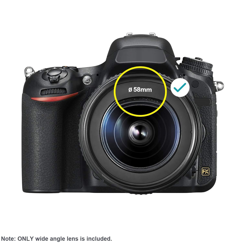 9270157fa81dc Neewer lente de 0.43 X HD gran angular con MACRO close-up parte lente sin  distorsión