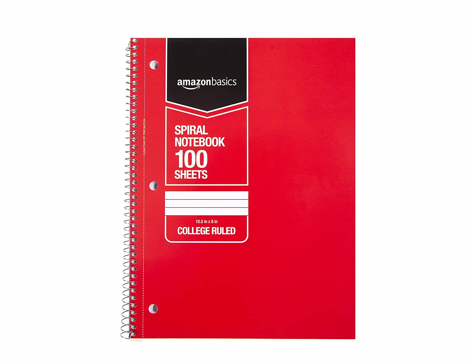 70-Sheet Assorted Solid Colors 45-Pack Basics College Ruled Wirebound Notebook