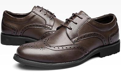 0faa6beb8b415b DHFUD Frühling Geschnitzte Herrenschuhe Leder Herrenschuhe Retro-Mode  Britische Schuhe