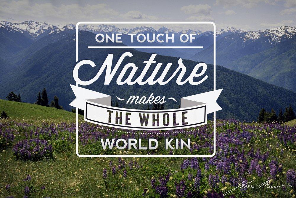 ジョンミューア – One Touch of Nature 36 x 54 Giclee Print LANT-54360-36x54 36 x 54 Giclee Print  B017EA01RU