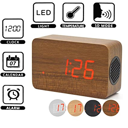 Amazon.com: Kangkang@ 4 Colors Wooden Wireless Stereo ...