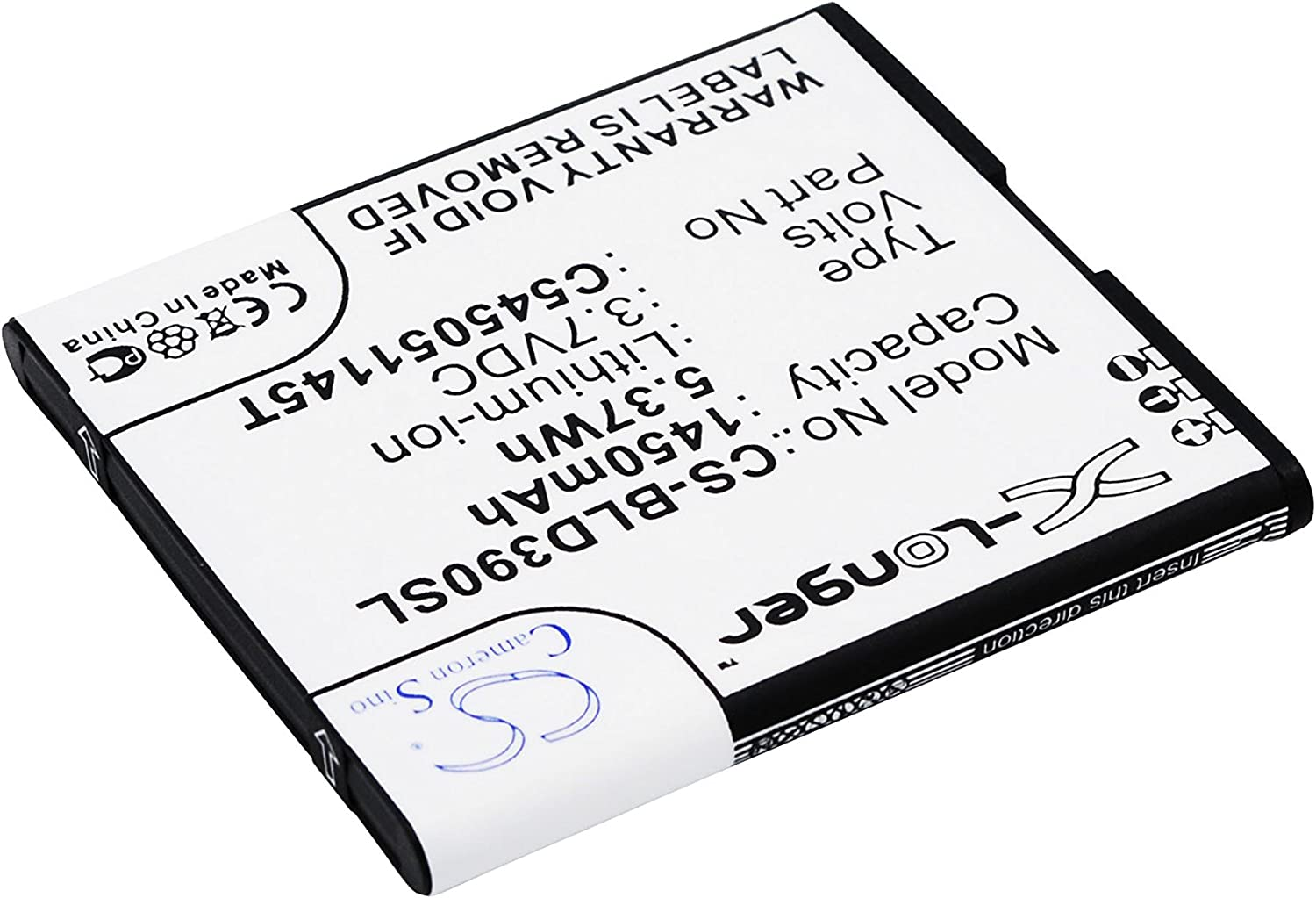 Battery Replacement for BLU D050L D050u D070 D070X D141T D352L D390U D390x Dash J Dash J 4.0 Dash JR TV Record