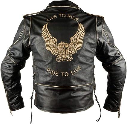 Aguila Lederjacke Aus Der Iguana Custom Collection Mit Motorradschutz Und Herausnehmbarem Thermofutter M Auto