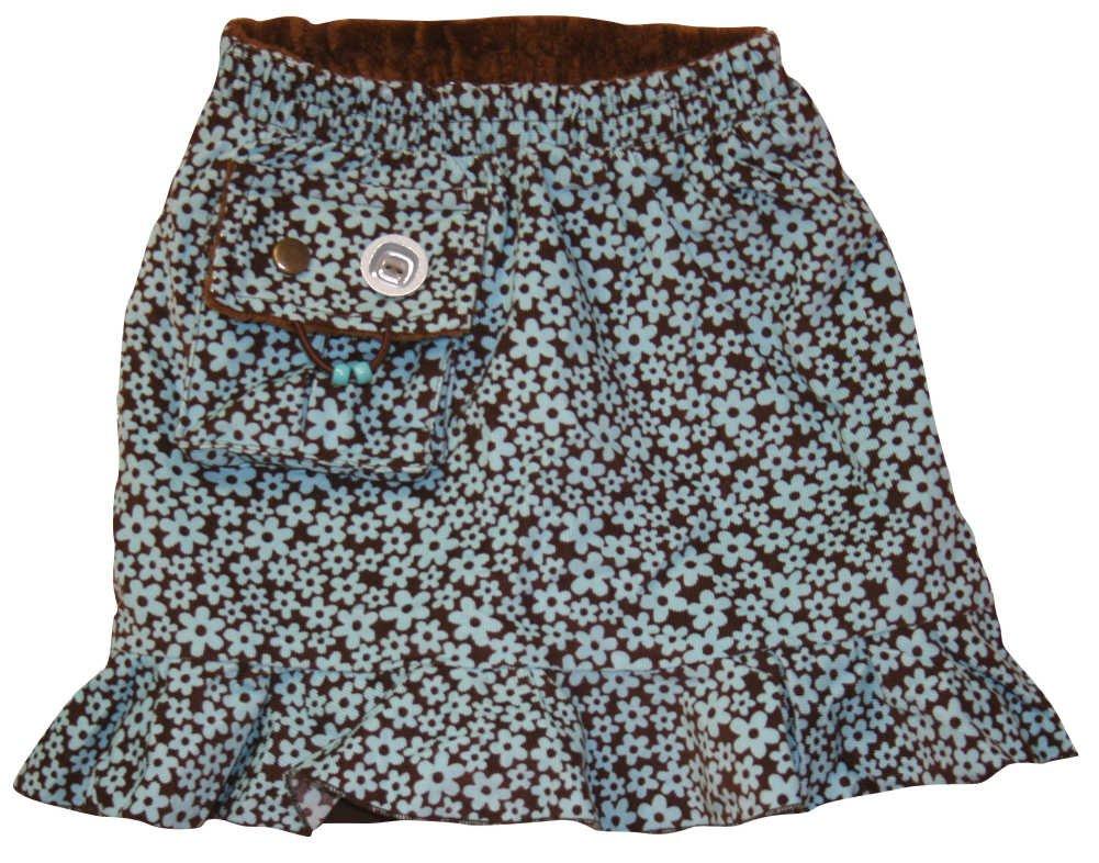 Kozie Clothes Girls' Elastic Waist Light Corduroy Compression Skirt/Skort C4023-4-$P