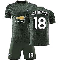 MCE herr pojkar Bruno Fernandes # 18 fan fotbollströja set Manchester United fotbollsklubb t-shirts och shorts