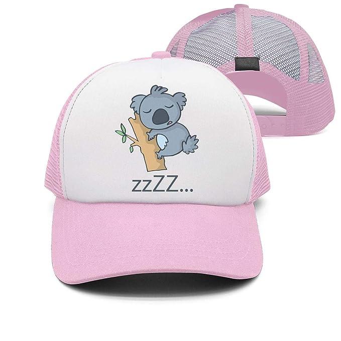 Amazon.com  Cute Koala Sleep on The Tree Hats for Women Gym Baseball ... 5b1c587c4