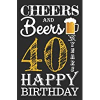 """Cheers & Beers to 40 Years Birthday Poster 11xx17""""- 40th Party Supplies Decorations Banner for Women Men Him Her Husband Wife Mom Dad Born in 1979 (40 Years)"""