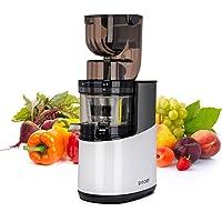 Bio Chef Atlas Whole Slow Juicer Pro – Extractor de zumos, 350W, 40 RPM, Boca Ancha para Frutas y Verduras Enteras. GARANTÍA DE por Vida en el Motor.