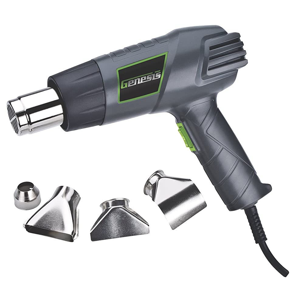 Genesis GHG1500A Dual Temperature Heat Gun Kit with Four Metal Nozzle Attachments Review
