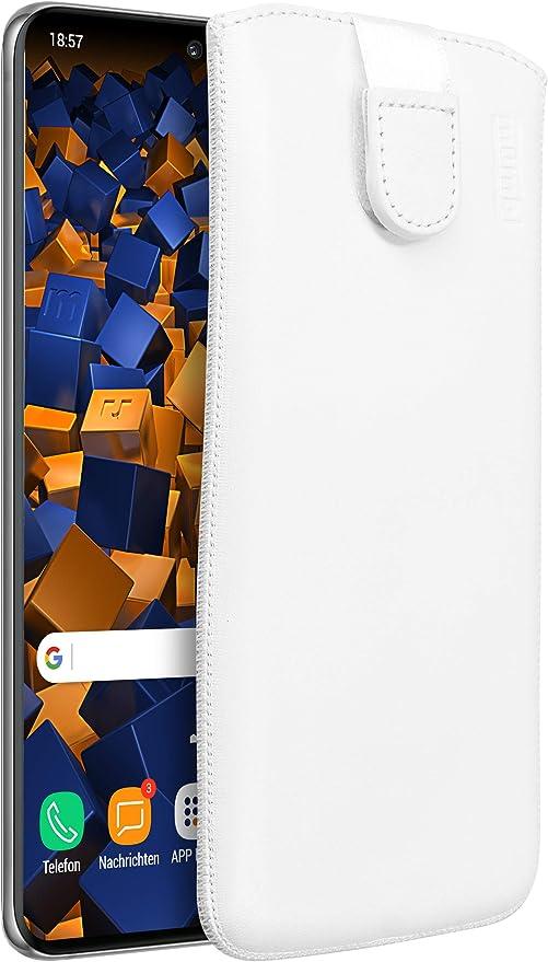Mumbi Echt Ledertasche Kompatibel Mit Samsung Galaxy S20 Hülle Leder Tasche Case Wallet Weiss Elektronik