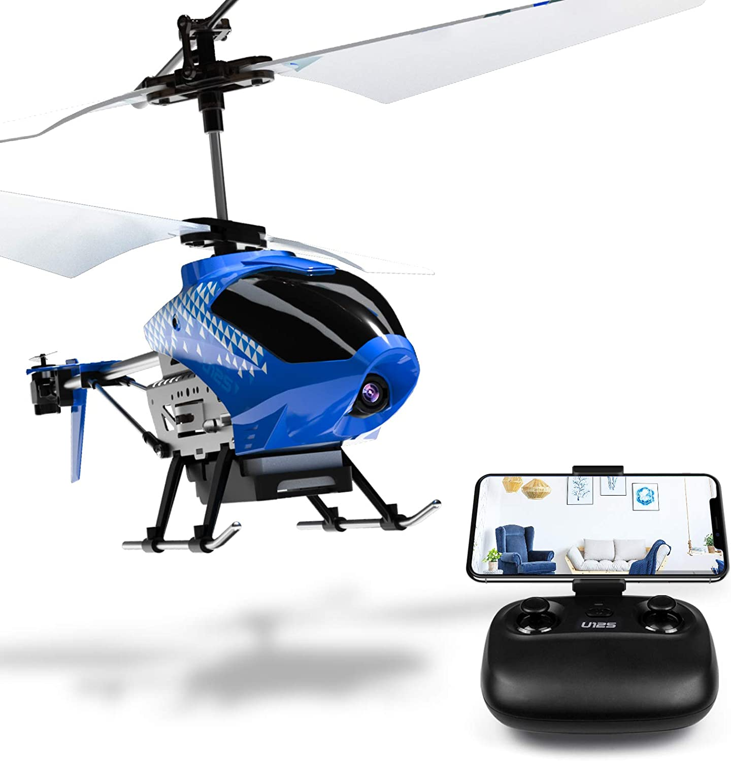 Amazon Com Cheerwing U12s Mini Rc Helicopter With Camera Remote Control Helicopter For Kids And Adults Toys Games