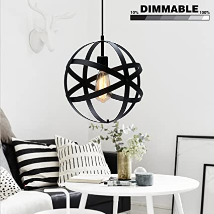 KingSo Industrial Metal Pendant Light Spherical Ceiling Light ORB - Globe pendant lights over island