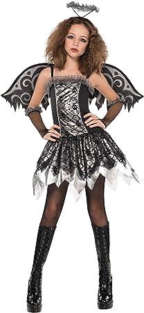 Disfraz ángel Negro Adolescente Halloween - De 14 a 15 años ...