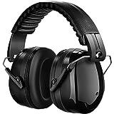 Patech 防音イヤーマフ 遮音値34dB折り畳み型 装着感良好 ANSI S3.19/CE EN521認証済み 聴覚保護 大人・子供兼用 プロフェッショナル (ブラック)