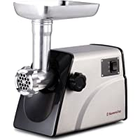 Sunmile SM-G33 ETL Stainless Steel Meat Grinder Max 1HP 800W REVERSE/CIRCUIT BREAKER Function 4pcs Stainless Steel Blade/Plates, 3 Types Sausage Attachments