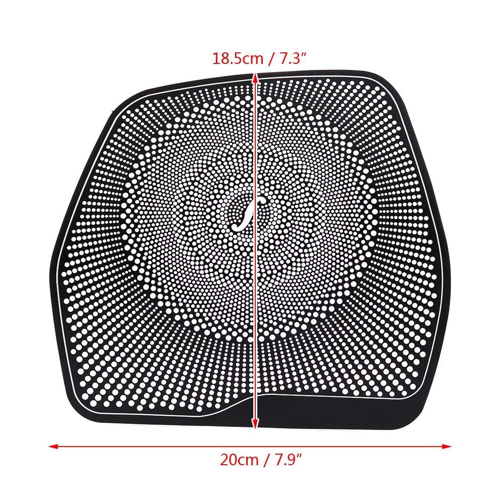 Dibiao Cornice nera per auto Cornice audio per altoparlante Cornice decorativa per Mercedes C Classe W205 C180