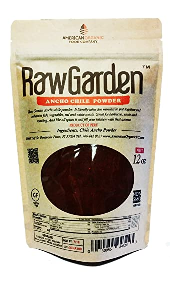 Amazon.com : Raw Garden Ancho Chile Powder 1 1/2 LB (24 OZ) Non Irradiated, No Sulfites. : Grocery & Gourmet Food