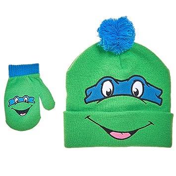d311af3af71 Teenage Mutant Ninja Turtles TMNT Leo Toddler Knit Hat and Gloves Set   Amazon.co.uk  Baby