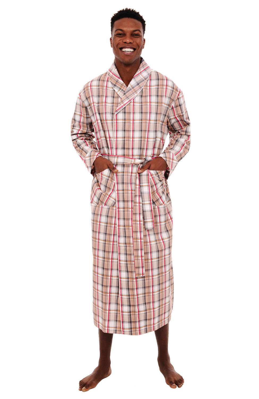 Alexander Del Rossa Mens Cotton Robe, Lightweight Woven Bathrobe, Medium Light Multi Plaid (A0715R11MD)