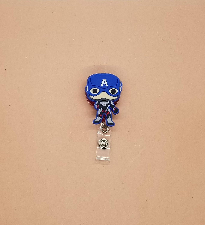 Captain America Badge ID Holder Retractable Reel Big