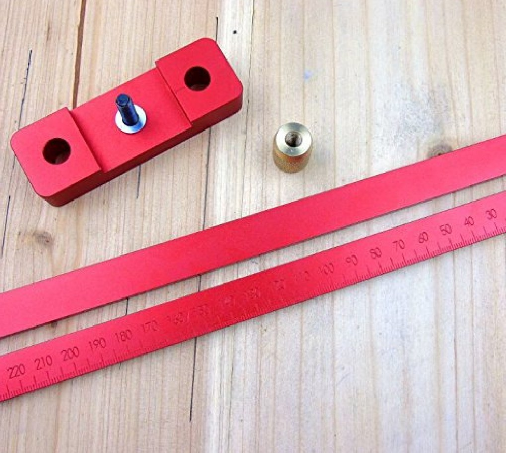 Aluminum Alloy Crossed Ruler Woodworking T Type Scriber Measuring Tools by YUCHENGTECH (Image #4)