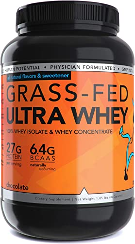 Dioxyme 2lb All Natural 100 Grass fed Ultra Whey Sweetened w Monk Fruit stevia Non-GMO Gluten Free 27gm Protein serv Chocolate