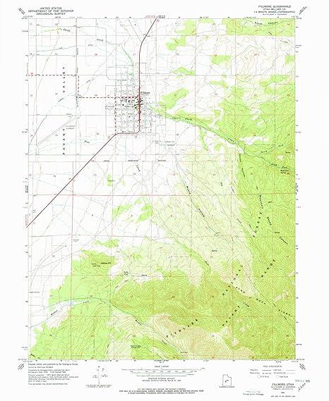 Amazon Com Yellowmaps Fillmore Ut Topo Map 1 24000 Scale 7 5 X