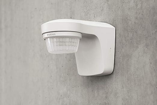 Theben theLuxa S180 WH 1010505 Sensor de movimiento, ángulo de detección de 180°, para exteriores, blanco: Amazon.es: Bricolaje y herramientas