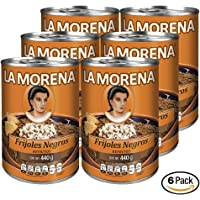 La Morena Frijoles Negros Refritos, 440 g