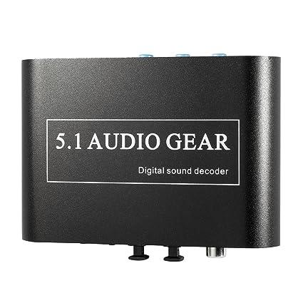 XCSOURCE Decodificador de Sonido Digital Dolby DTS AC3 Optico a ...