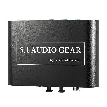 Decodificador de Sonido Digital Dolby DTS AC3 Optico a 5.1 Analógico Audio Gear SPDIF AC112