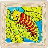 Goki 57523 - Schichtenpuzzle - Die Raupe