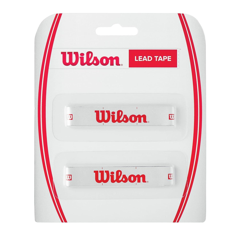 Wilson Lead Tape - Cinta de plomo para raqueta, color blanco/rojo, talla NS