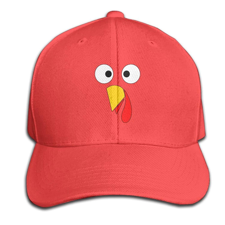 JIEKEIO Funny Baseball Caps Hats Turkey Face - Funny Thanksgiving Snapback  Sandwich Cap Black Baseball Cap 52832001015e