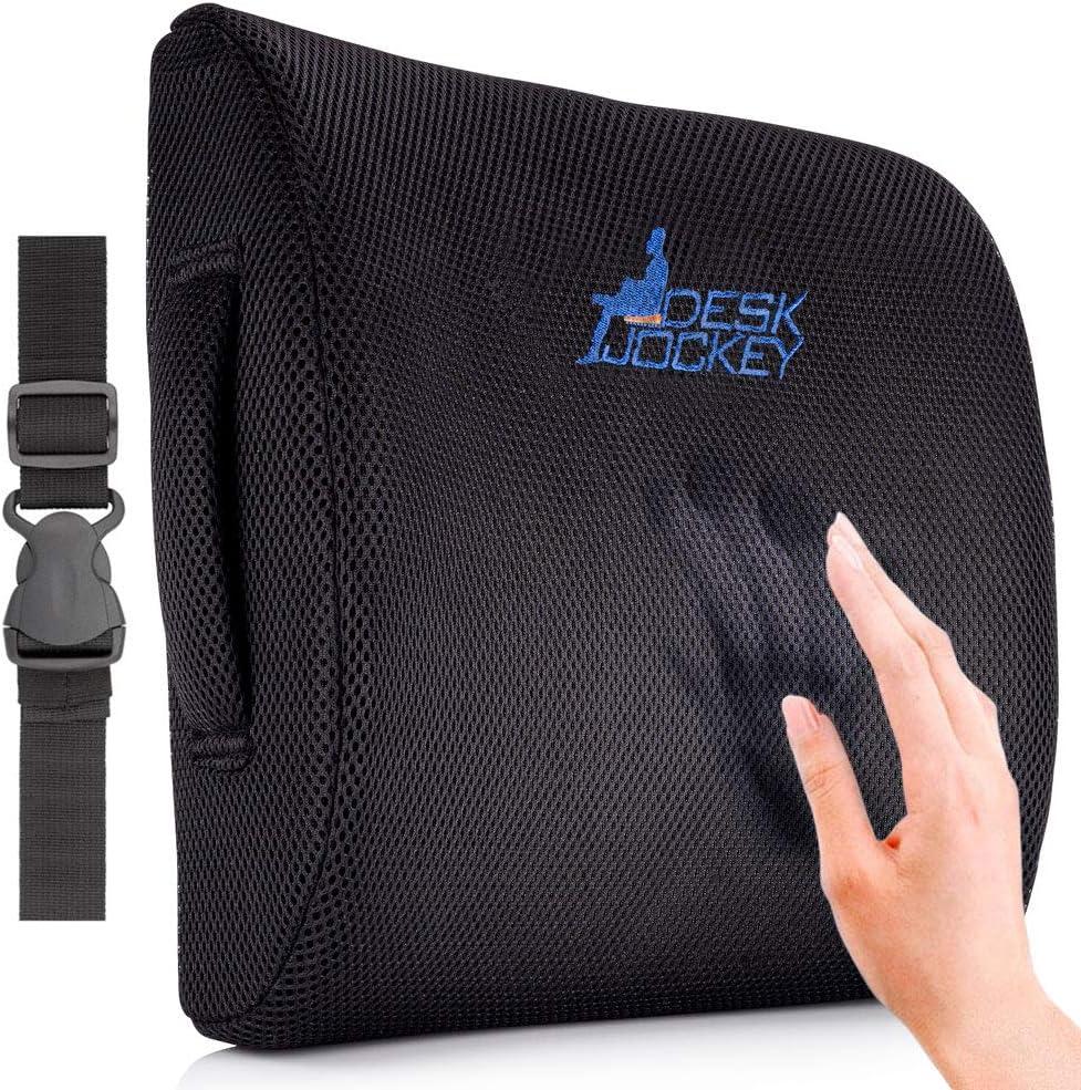Cuscino Supporto Schiena Desk Jockey Cuscino Supporto Lombare Terapeutico di Prima qualit/à per Dolore Lombare Sedile di Guida