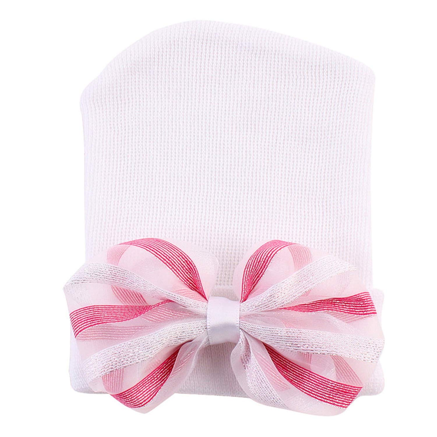 Eric Carl Newborn Bowknot Soft Cute Hat New Baby Hats for Girls with Pretty 2018