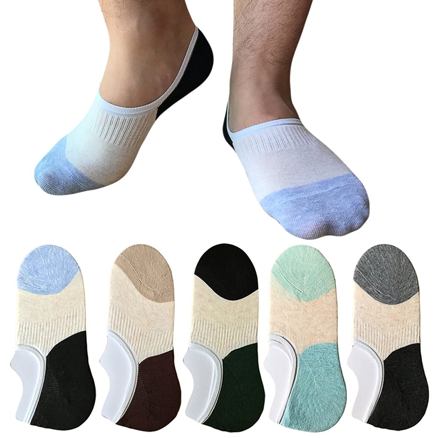 Mens No Show Socks 5 Pack $3.9...