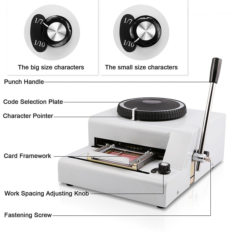Autovictoria caracteres grabación relieve de la tarjeta de PVC máquina manual letras