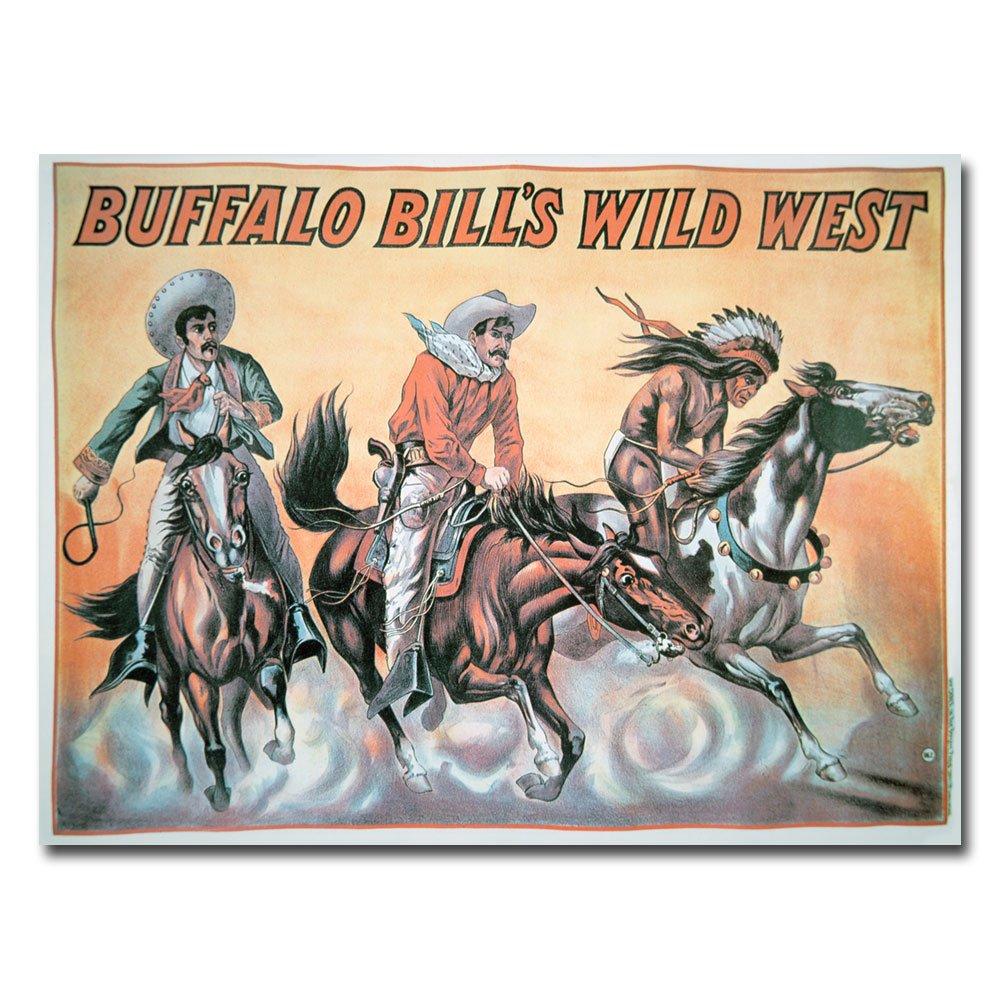 Buffalo Bill's Wild West Show, 1898, 24x32-Inch Canvas Wall Art by Trademark Fine Art