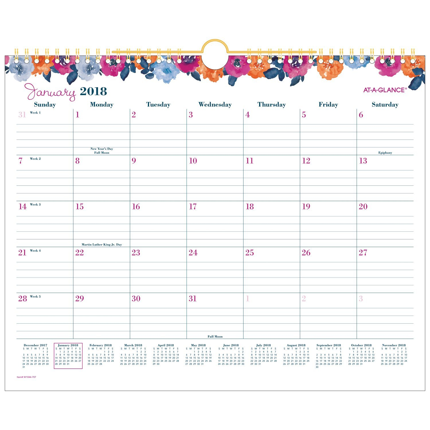 cheap at a glance monthly wall calendar january 2018 december