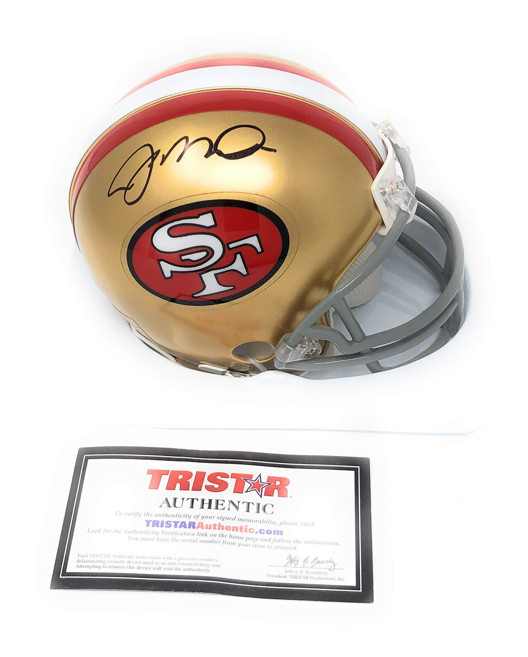 Joe Montana San Francisco 49ers Signed Autograph Mini Helmet Tristar Authentic Certified
