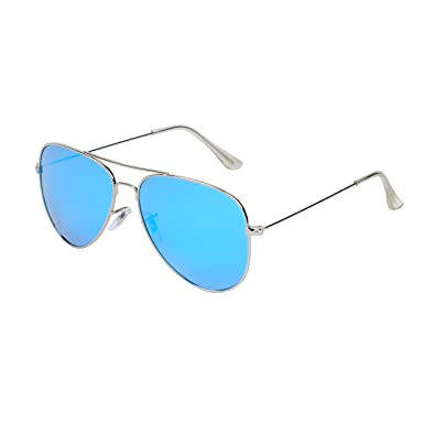 Lunettes Lunettes de soleil Polarisées Femme Rondes Anti-UV ( couleur : Bleu ) Ct0ab