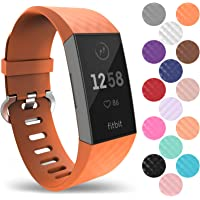 Yousave Accessories Bracelet Fitbit Charge 3, Bracelet De Rechange Silicone Fitbit Charge 3, Sangle De Sport Remplacement pour Fitbit Charge 3 - Disponible en 15 Couleurs