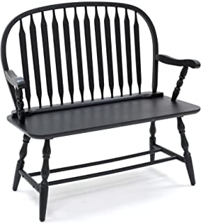 product image for Carolina Chair & Table Colonial Windsor Bench, Antique Black