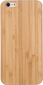 Real Wooden Case Compatible with iPhone Se 2020/6/7/8 Cases Wooden Grain Protective Snap On Cover, Classy Walnut Bamboo Case for iPhone Se 2020/6/7/8 Cell Phone Covers(Bamboo)