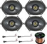 Car Speaker Set Combo of 4 Kicker 40CS684 6x8 Inch 450W